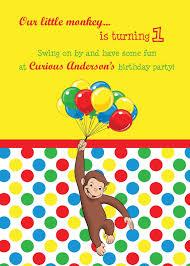 birthday invitation themes unique ideas for curious george birthday invitations egreeting