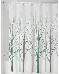 Green And Brown Shower Curtains Deal Alert Interdesign Forest Shower Curtains Green Brown