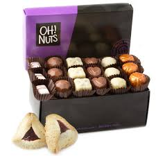 oh nuts purim baskets 18 chocolate truffles hamantaschen purim mishloach manos gift