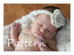 baby crochet headbands crochet flower headband pattern baby crochet and knit