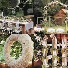 Summer Backyard Wedding Ideas Wedding Garden Pretty Wedding And Event Decor Pinterest