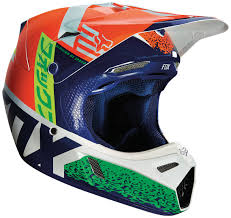 helmets motocross fox bicycle fox v3 divizion helmets motocross orange blue fox