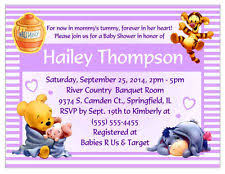 winnie the pooh baby shower invitations winnie the pooh baby shower greeting cards invitations ebay