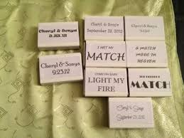 wedding matches match box favours weddingbee photo gallery