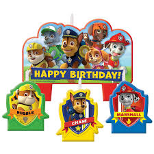 halloween birthday candles paw patrol candle set walmart com