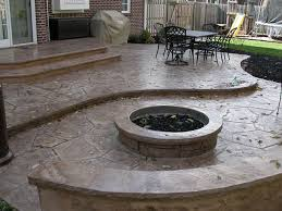 patio fire pits stamped concrete patio fire pit u0026 sitting wall outdoor and