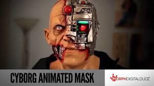 cyborg animated mask spirit halloween youtube