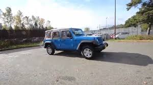 jeep wrangler 4 door blue 2016 jeep wrangler unlimited sport hydro blue pearlcoat