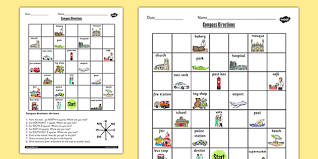 compass directions worksheet compass directions worksheet