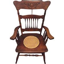 Rocking Chair Philippines Antique Rocking Chair W Cane Seat Hartwig U0026 Kemper Baltimore Md