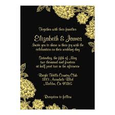 black and gold wedding invitations black and gold wedding invitations zazzle