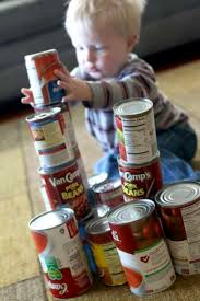 canned food blocks for toddlers on as we grow