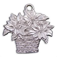 limited edition poinsettia ornament gibson pewter