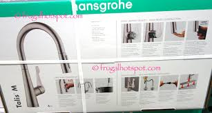 hansgrohe talis kitchen faucet costco sale hansgrohe talis m pull kitchen faucet 139 99