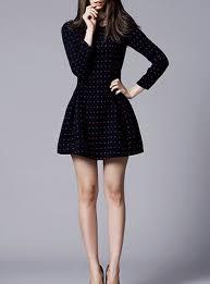 sleeved black dress and flare dress sleeved black dress length