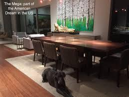 mega large square extendable dining table