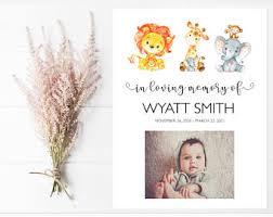 baby funeral program stillborn infant loss memorial service funeral program