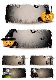 black banner halloween bunting and bunting flags clip art library