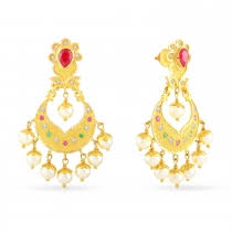 gold ear ring images buy gold earring for women online malabar gold diamonds