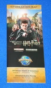 Universal Studios Orlando Park Map by Universal Studios Orlando Park Map Brochure Harry Potter Diagon