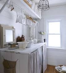 white linen laundry room curtains ideas for rustic decor