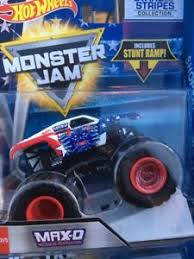wheels monster jam trucks 2018 wheels monster jam truck stars and stripes max d ebay