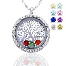 photo gifts necklace images Family tree of life birthstone necklace jewelry gifts for mom jpg