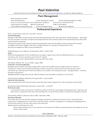 Electronic Assembler Resume Sample by Paul Valentine Resume