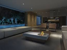 adorable indoor fire pit coffee table for modern luxury living