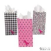 pink gift bags 2 dozen 24 mini pink ribbon paper gift 6 5 goody gift bags