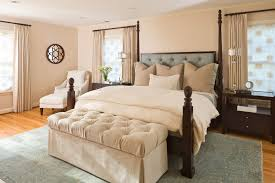 Four Poster Bed Curtains Drapes Curved Headboard Four Poster Bedroom Traditional With Bed Curtains