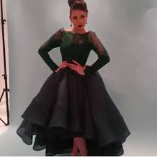 aliexpress com buy long lace sleeve black ball gown a line scoop