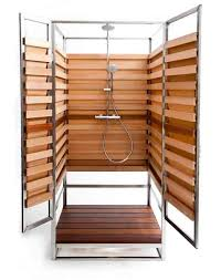 Outdoor Shower Room - stylish outdoor showers for small urban spaces too urban gardens