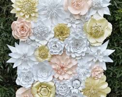 paper flowers decorations room decor paper flower