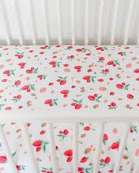 Muslin Crib Bedding Unicorn Cotton Muslin Crib Sheet Strawberry