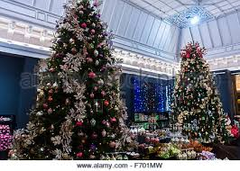 paris france christmas deco display shopping french department