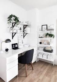 for creating a stylish white office that will increase productivity