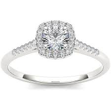 2 carat white gold engagement ring imperial 1 2 carat t w single halo 10kt white gold