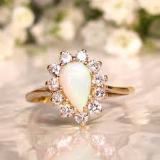 vintage opal engagement rings best diamond and opal engagement ring products on wanelo