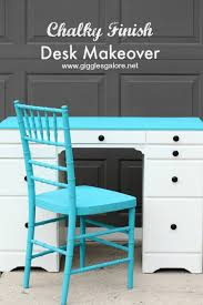 painting a desk white chalky finish paint desk makeover giggles galore