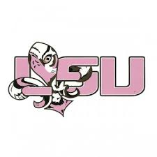 lsu alumni sticker x 6 lsu tigers pink tangled tigre vinyl decal