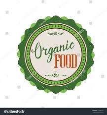 organic food hand lettering handmade vector stock vector 317886476