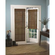 French Door Photos - roman fruitwood bamboo french patio door shade overstock com