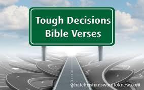7 bible verses tough decisions