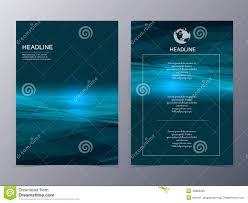 blue technology graphic design element flyer template stock vector