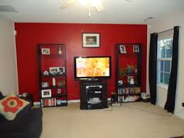 Bedroom With Red Accent Wall - what color walls do you have in your home gbcn