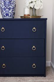 diy fabric covered nightstand navy blue