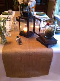 home decor table runner burlap table runner 12 14 or 15 width with hemmed ends