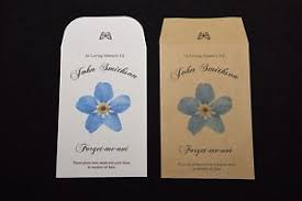 forget me not seed packets 1 personalised forget me not seeds funeral memorial seed