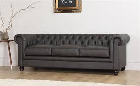 chesterfield sofa leather hton 3 seater leather chesterfield sofa brown only 599 99